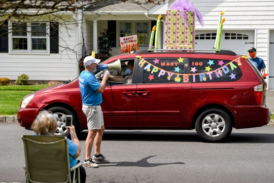Friends and family gathered to celebrate Mary Riker's 100th birthday with a car parade on Saturday May 2, 2020. Riker who turned 100 on April 30th was a teacher in Towtowa for 40 years.