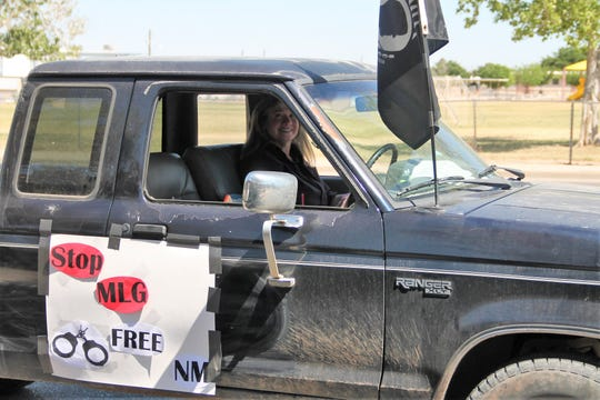 Former Alamogordo City commissioner held an anti-quarantine rally Saturday where cars with signs and flags drove around Alamogordo.