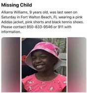 An Amber Alert has been issued for a 9-year-old Fort Walton Beach girl believed to be traveling to Pensacola.