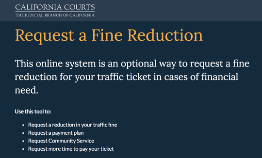 The Shasta County Superior Court announced it is testing out an online tool to help people pay traffic tickets on Thursday, April 30, 2020. The tool is available at MyCitations.courts.ca.gov.