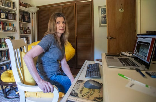 Diane Eyles, 62, has spent countless hours on her laptop and making calls while trying to  file a claim through the Department of Economic Opportunity Reemployment Assistance CONNECT program.