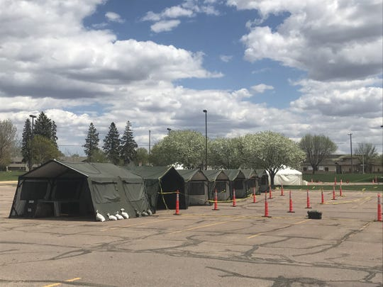 Avera Health has set up a second COVID-19 testing site in Sioux Falls on the Washington High School parking lot on Sunday, May 3, 2020.