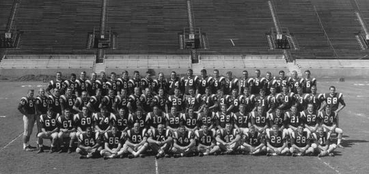 The team photo of the 1964 FSU football team, the first in program history to beat the Florida Gators.