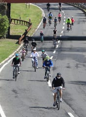 Riders enjoy the opening of the 46th annual bicycle Sunday, May 3, 2020 in Scarsdale. The event is sponsored by the Westchester Parks Foundation and Westchester County Parks.