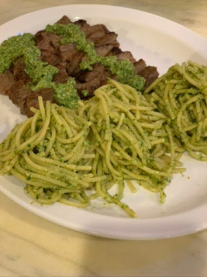Ramp pesto works well drizzled on steak and as a pasta dressing.