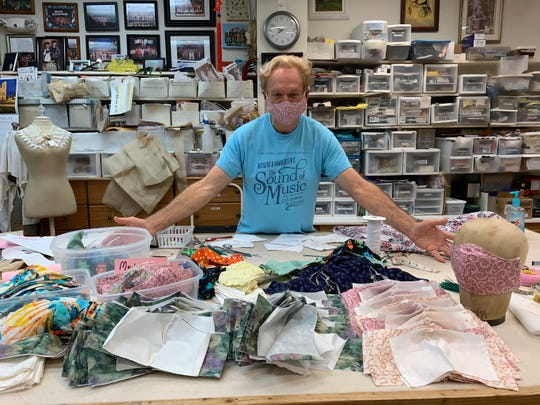 Dan Hill, the resident costume designer for The Historic Cocoa Village Playhouse, and his devoted team of volunteers have stitched over 1,000 masks that have been distributed around the state.