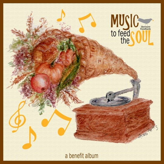 "Williston artist Grace Heltz painted the cover art for ""Music to Feed the Soul,"" a benefit album for the Vermont Foodbank."
