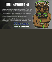 Paulsboro's Tino Savaiinaea was selected to play in the Hawaii Tiki Bowl next year.