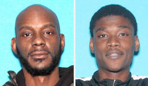 (Left) Forty-four-year-old Larry Edward Teague Jr. and 23-year-old Ramonyea Bishop along with 45-year-old Sharmel Teague were charged with the murder of Calvin James Munerlyn by Genesee County Prosecutor David Leyton.