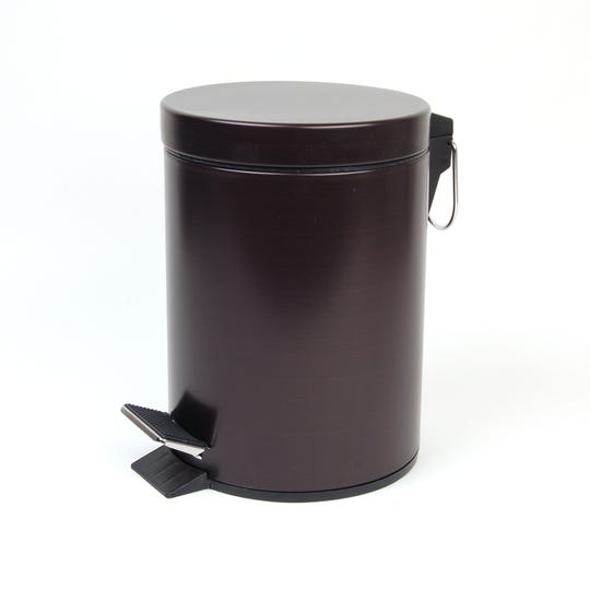 Bed Bath & Beyond has a variety of hands-free products for the kitchen and bath like this India Ink Step-On Bathroom Wastebasket in Oil Rubbed Bronze.