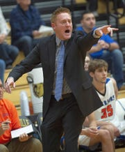 Whiteland coach Nate Cangany yells instructions to his troops.