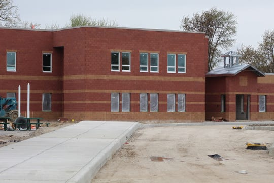 The parking lot and curbs at the new Croghan Elementary School building are almost completed. FCS Superintendent Jon Detwiler said all four new elementary school buildings should be ready in time for the start of the 2020-2021 school year.