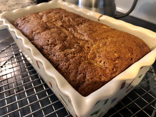The famous banana bread recipe from Boston's Flour Bakery is known to sink a little at the center, a minor thing considering how easy and delicious it is.