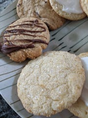 Martha Stewart's Sugar Cookies, Peanut Butter Cookies with Scotcheroo Glaze and Delicious Chocolate Chip Cookies.