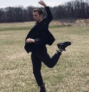 "University of Iowa senior Bennett Cullen performing in his screen dance project ""Second Work (Remastered)."" The performance is for the University of Iowa's BFA senior Dance Concert in Spring 2020."