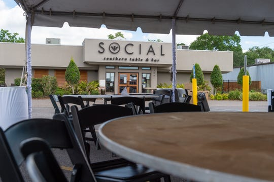 Social adds tent in parking lot to serve customers outdoors. Monday, May 4, 2020.