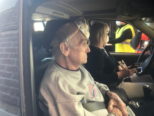 Phil Badgett, a grandfather from Okolona, got tested for COVID-19 on Monday morning, a requirement of his doctor before he could get a steroid shot in his back.