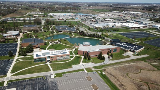 The Ohio State University at Marion is a regional campus of The Ohio State University located in Marion, Ohio. The campus was founded in 1957. Its 187-acre campus is  shared with Marion Technical College. There are eight buildings on the campus.  Photographed April 27, 2020.