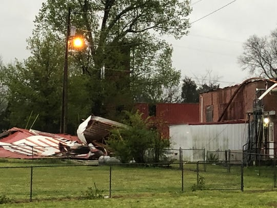 Sunday's storms (May 3, 2020) tore about 60% of the roof off the primary Kittrell Volunteer Fire Department Station.