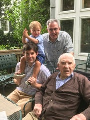 Four generations of the Quentin Wiest family, Quentin Wiest I, II and III with great-grandson Theordore Wiest.