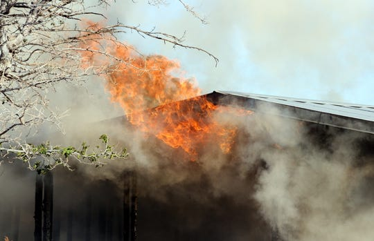 Deming firefighters were concerned about the densely-populated neighborhood and the proximity of mobile homes.