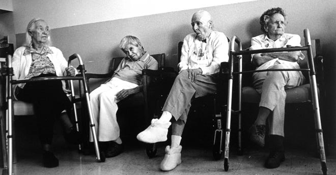 Residents at a nursing home in Los Alamos, circa 1996.