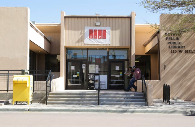 The Octavia Fellin Public Library, 115 W. Hill Ave. in Gallup, is closed to the public until further notice but has been offering alternative services to check out library material.
