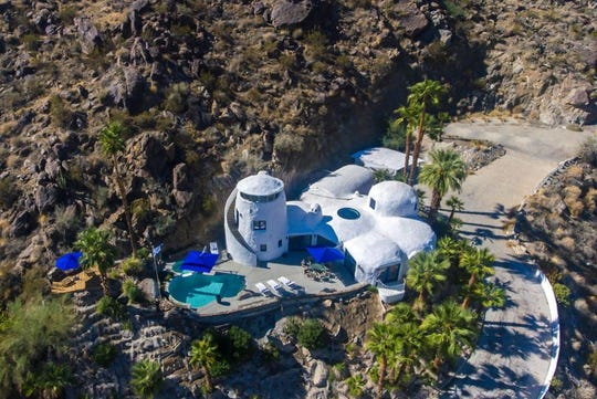 The Santorini House in Palm Springs was put on the market for $2.975 million in May 2020. The home was renovated and redesigned by owner and real estate broker Dan Valentino, who wanted to create a home inspired by the beauty and tranquility of Santorini.
