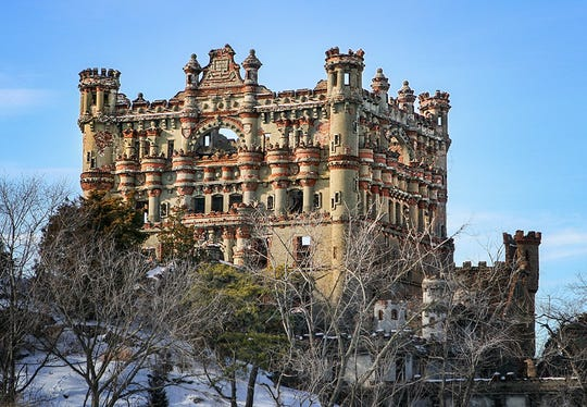 John Verner's photo of Bannerman Castle shows the intricate architectural details up close.