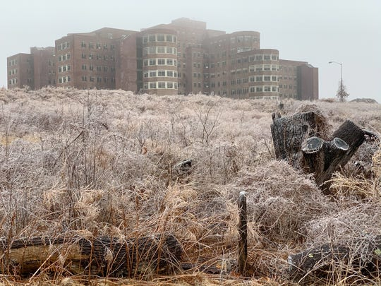 Monica D. Church captured the existing building on a cold morning in her photograph, Cheney Building, Psychiatric Hospital.