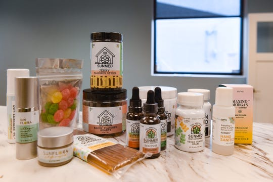 Products containing CBD arrive as inventory for the new Your CBD shop on Monday, May 4, in Sioux Falls. The products include dietary supplements, beauty products, tinctures, dog treats and more.