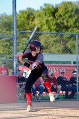 Kailee Craig bats for Brandon Valley during the 2019 softball season.