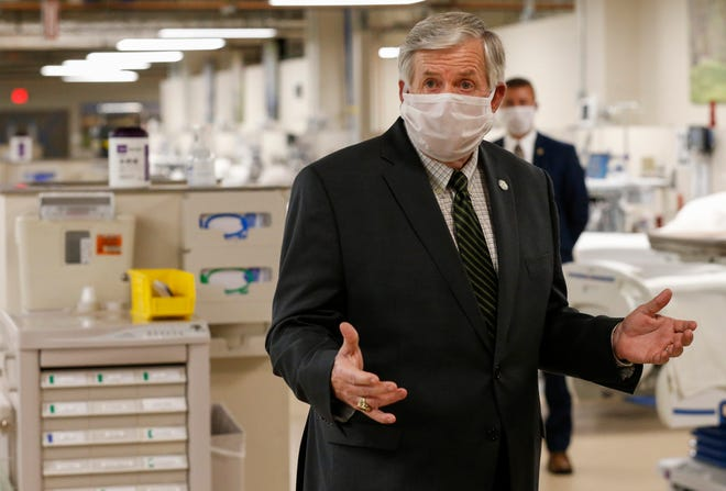Missouri Gov. Mike Parson has declined to order a statewide mask mandate, saying the decisions are best made at local levels.