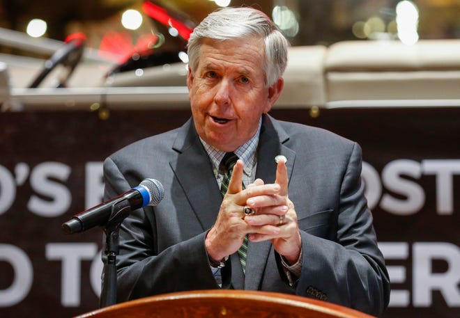 """Missouri Gov. Mike Parson said """"we have no intentions"""" of closing the state back down due to a recent spike in coronavirus cases."""
