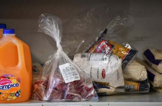 Halal goat meat and a selection of other food items are available for people in need due to the COVID-19 crisis Monday, May 4, 2020, at Midnimo Grocery & Halal Meat in St. Cloud.