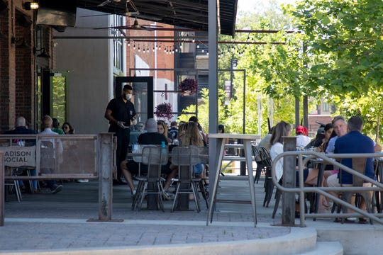 Madison Social will offer patio seating and specials like chicken and waffles and pancakes plus free mimosa with a flower for mom for Sunday brunch.