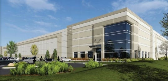 Artist rendering of manufacturing and distribution complex proposed developed by Sansone Group of St. Louis on  300 acres north of Becker Road and west of Interstate 95 in Port St. Lucie.