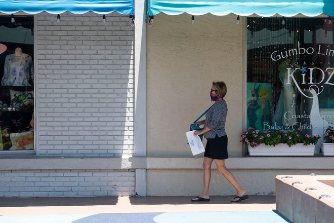 "Some businesses reopened Monday, May 4, 2020, in downtown Stuart. To help stop the spread of coronavirus, Gov. Ron DeSantis issued an executive order prohibiting dining at restaurants and closing non-essential retail stores April 1, but retail stores and restaurants in Stuart were able to open Monday at 25% capacity under ""Phase 1"" of the governor's reopening plan for Florida."