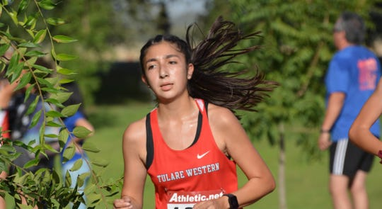 Nadia Salcedo is a senior on the Tulare Western High School track and field team.