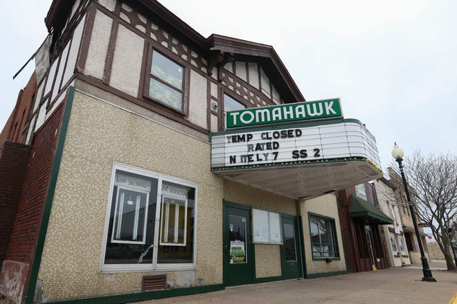 The Tomahawk Theater stands closed on Friday, the same day Lincoln County reported its first confirmed case of COVID-19.