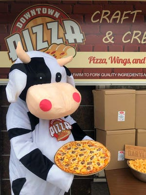 Downtown Pizza in Thiensville buys Wisconsin cheese for its pizzas. For purchases of a new menu item, Dairyland Pizza, $4 will be donated to Ag in the Classroom.