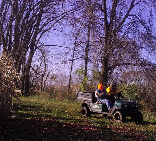 After the snow had melted, Susan, Sunny, and Bob were caught on the last cart ride of 2019 on their critter camera.