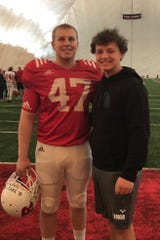 Billy Taylor (left) has been Rutgers' starting long snapper for the last three seasons. His brother, Zack, is a long snapper at Parsippany Hills and committed to Rutgers this week.