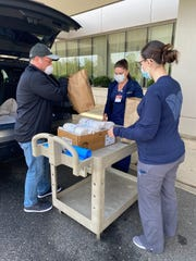 Brian Fritz, an attorney from Mullica Hill, delivers sandwiches to nurses at Virtua Voorhees. He buys sandwiches and meals at South Jersey restaurants and donates them to healthcare workers and police coping with the COVID-19 pandemic in South Jersey and Philadelphia .