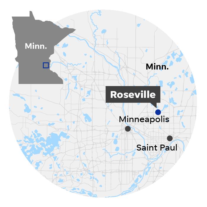 Roseville, Minn. locator map