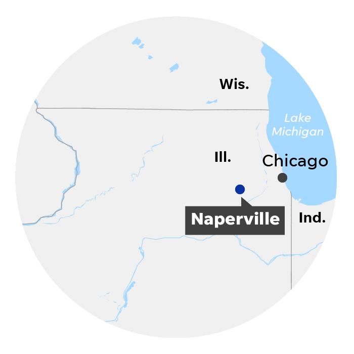 Naperville, Ill. locator map