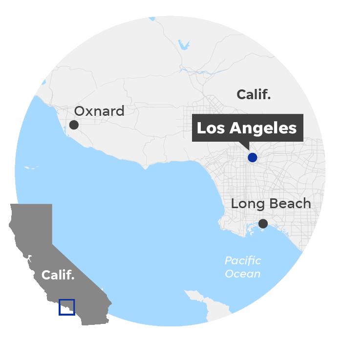 Los Angeles locator map