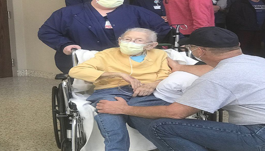 Mary Eckstein, 95, was released Monday after three weeks at Mercy Health – Clermont Hospital. She recovered after diagnosis of pneumonia and coronavirus.