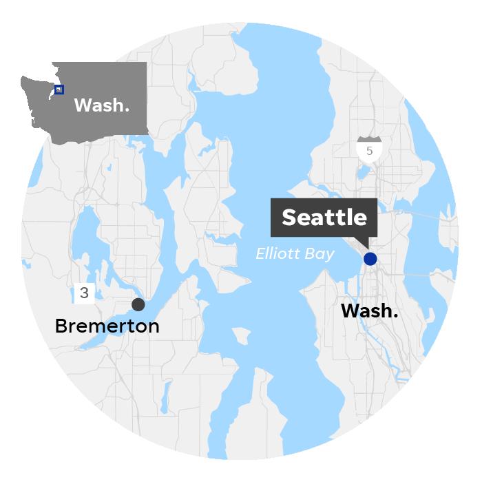 Seattle, Wash. locator map