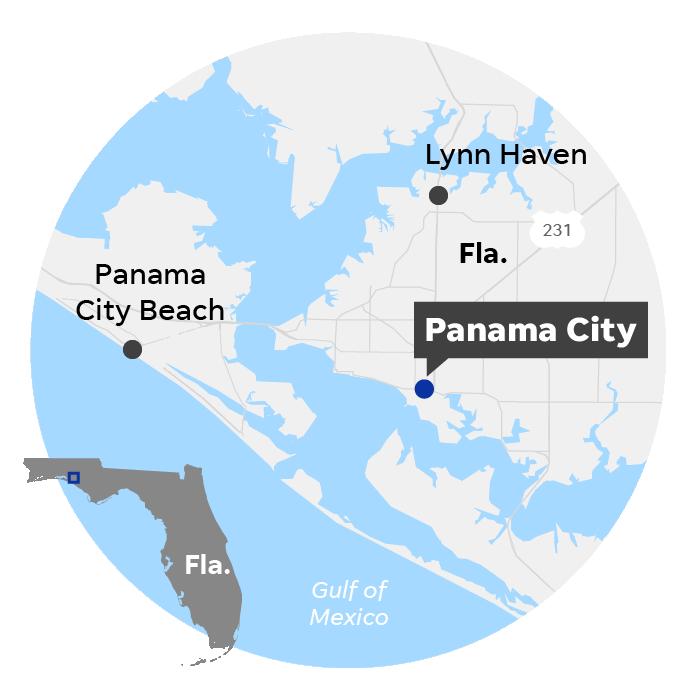 Panama City, Fla. locator map